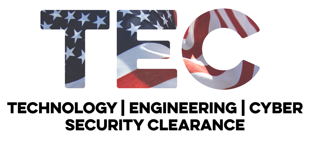 TEC - Technology, Engineering, Cyber, Security Clearance Career Events Logo